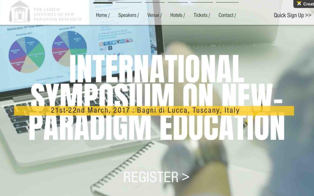 International Symposium on New-Paradigm Education – March 21st-22nd, 2017